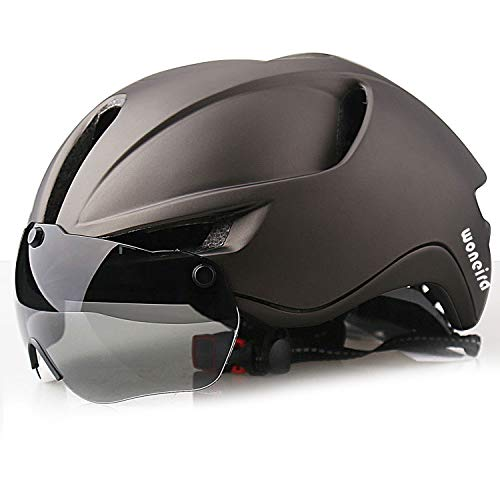 WONEIRA Bike Helmet, Bicycle Helmet with Detachable Magnetic Goggles and Rear Light for Adult Road/Biking/Mountain Cycling Helmet Men/Women CPSC Safety Standard…