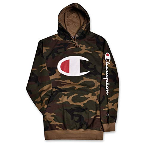 Champion Hoodie Men Big and Tall Hoodies for Men Pullover Sweatshirt Camo 4X