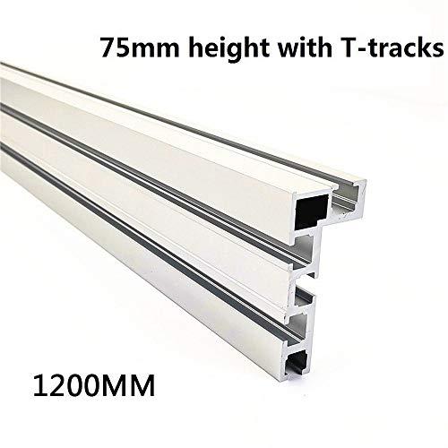 T-Slot Schiene Aluminium Holzbearbeitungssäge für Holzbearbeitung DIY Werkbank für Zaun 75 mm Höhe mit T-Schienen