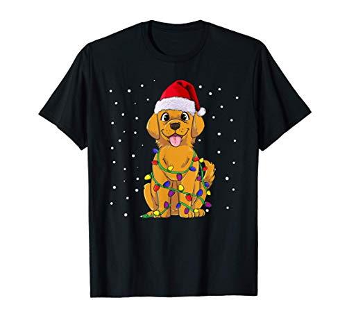 Golden Retriever regalo de perro de Navidad Camiseta