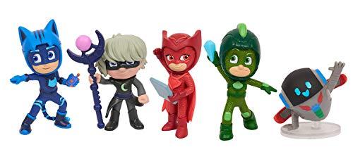 Simba 109402364 - PJ Masks Figuren Set / Pyjamahelden und Bösewichte / 5 Action Figuren / 8cm groß, für Kinder ab 3 Jahren