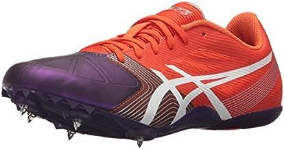 ASICS Women's Hyper-Rocketgirl SP 6 Cross Country Spike Shoe, Orange/White/Dark Purple, 7.5 M US