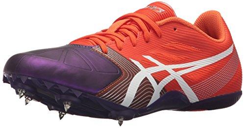 ASICS Women's Hyper-Rocketgirl SP 6 Track and Field Shoe - G551Y.2901 (Orange/White/Dark Purple - 12)