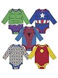 Marvel Baby Boys 5 Pack Bodysuits Hulk...
