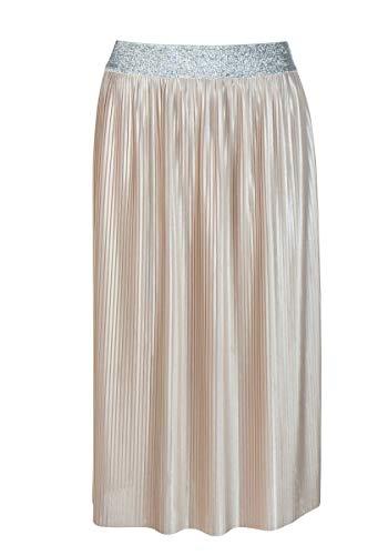 FROGBOX Damen Plissee Skirt in Shine Fabric (44)