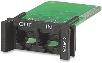 APC PNETR6 Surge Module for CAT6 or CAT5/5e Network Line, Replaceable, 1U, Use with PRM4 or PRM24 Chassis