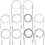 LIPIODOL 10Pcs Cordones para Gafas, Collar para Mascarilla, Cadenas de Gafas para Mujer,Correa Antideslizante para Gafas, Soporte de Cuerda,Retenedor,Cordón para Cuello