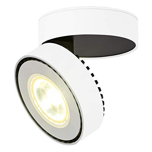 Dr.lazy 12W LED Focos para el techo,Focos de pared, Lámpara de techo, Focos de pared, Lámpara de salón, Luz de techo led, Plafón con Focos, IP20, 10X10x6CM (Blanco-4000K)