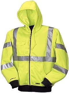 DEWALT DCHJ071B-M 20V/12V MAX Bare High-Vis Hooded Heated Jacket, High-Vis, Medium