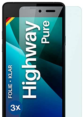 moex Klare Schutzfolie kompatibel mit Wiko Highway Pure - Bildschirmfolie kristallklar, HD Bildschirmschutz, dünne Kratzfeste Folie, 3X Stück
