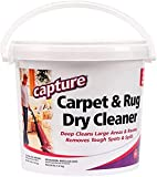 Capture Carpet & Rug Dry Cleaner w/ Resealable lid - Home, Car, Dogs & Cats Pet Carpet Cleaner Solution - Strength Odor Eliminator, Stains Spot Remover, Non Liquid & No Harsh Chemical (4 lb)