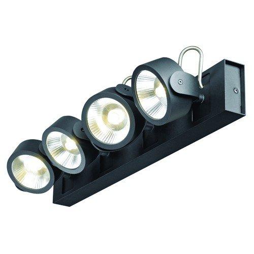 LED Wandleuchte KALU LED 4 Deckenleuchte, Leiste lang, 4x10W, 3000K, schwarz EEK: A++ - A