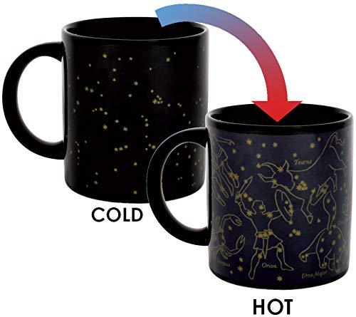 Wärmewechselende Konstellations-Tasse - Neue Goldsterne - Fügen Sie Kaffee oder Tee hinzu und erscheinen 11 Konstellationen - Wird in einer lustigen Geschenkbox geliefert