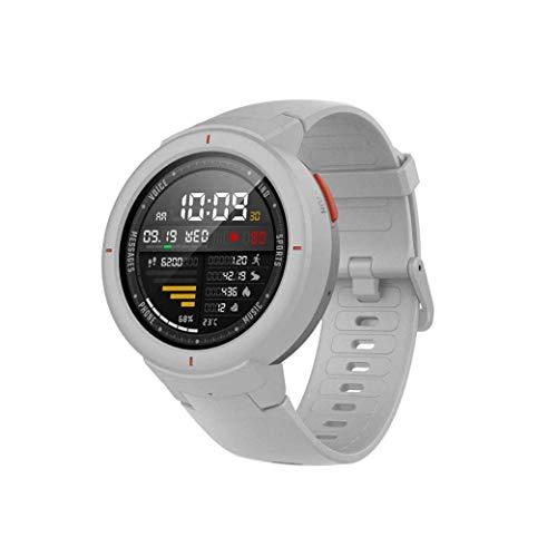 Amazfit Verge Xiaomi Smartwatch Deportivo - Reloj Deportivo GPS | Sensor de Frecuencia Cardíaca| Reproduce Música | Blanco (Versión Internacional) iOS-Android (Reacondicionado)