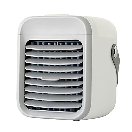 Refrigeratore ad Aria Portatile Personale, depuratore d'Aria da Interno a 3 velocità di Ricarica USB a 3 velocità, Adatto per Ufficio scrivania,Bianca