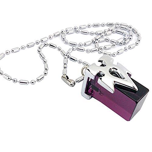ZOA SAO Anime Chain Pendant Necklace Sword Art Online Purple Transfer Crystal Necklace 1PCS
