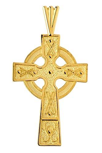 10k Yellow Gold Celtic Cross Medallion Pendant