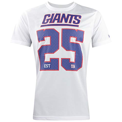 New Era NFL Tri Colour T-Shirt Supporters Collection Tee NFL Jersey Trikot Shirt American Football Streetwear New York Giants L