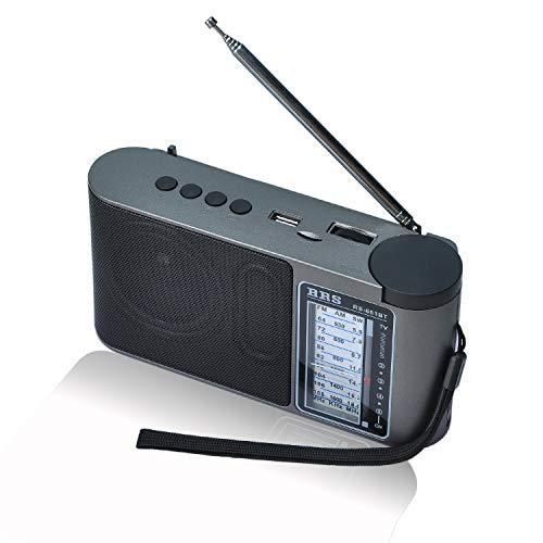 COVVY Radio Am FM SW portátil,con Tarjeta Bluetooth TF USB,Reproductor de MP3, reproducción de Entrada AUX,Radio Recargable con Carga USB,para el hogar al Aire Libre