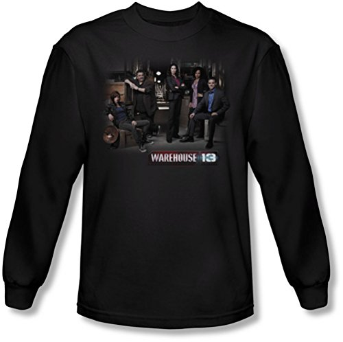 Warehouse 13 - Warehouse hommes Cast-shirt manches longues en noir, X-Large, Black