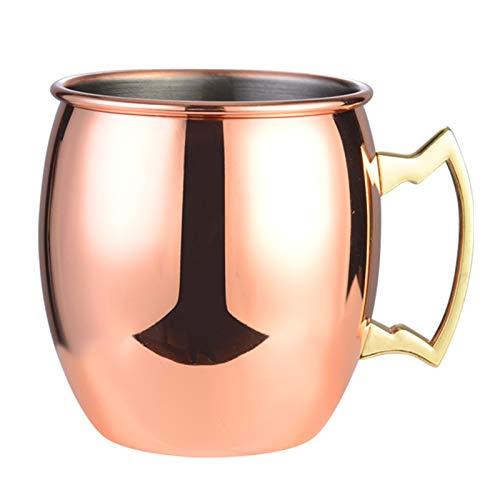 ROSEBEAR Taza de cobre de 18 onzas de la taza del vaso de la taza del cóctel del metal de la taza de la mula de Moscú