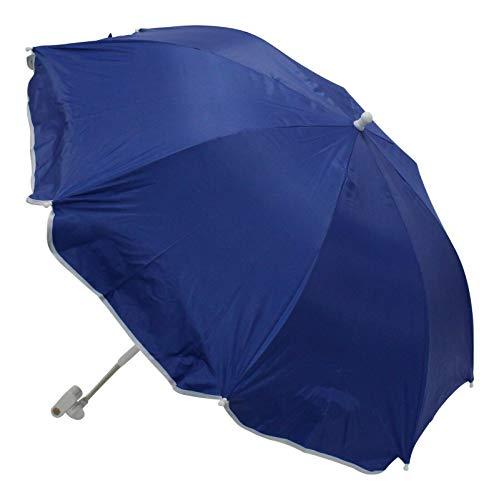 GERI Beach Chair Umbrella Parasol Tilting Umbrella For Beach Chairs Bright Colours (Blue)