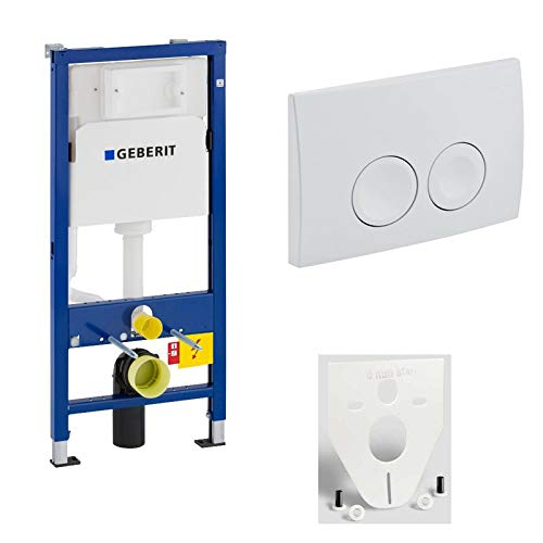 GEBERIT WC-Element Duofix Basic für Wand-WC 112cm 458103001 inkl. Betätigung 2-Mengen DELTA21