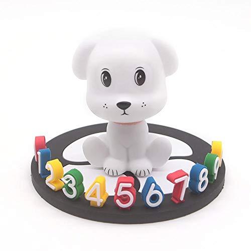 JINQIANSHANGMAO Coche de Perro Tarjeta de estacionamiento Temporal Tablero Teléfono Número de teléfono Signo Etiqueta Estacionamiento Signo de Aparcamiento Accesorios (Sensor Color : White)