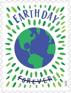 USPS Earth Day Forever Stamps - Booklet of 20 Postage Stamps