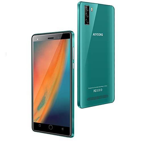 4G Telephone Portable debloqué, 16Go ROM/64 Extensible, Android 9,0, 5.0 Pouces Smartphone Pas Cher, Dual SIM 5MP+ 8MP 3400mAh Téléphone Portable Pas Cher sans Forfait,WiFi/GPS/Bluetooth (Vert)