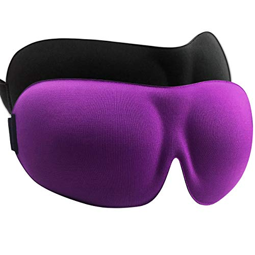 Hairizone 3D Schlafmaske für Reise Augenmaske Schlafmaske Augenmaske Augenmaske Augenmaske mit 2 Sets Ohrstöpsel Schwarz Lila