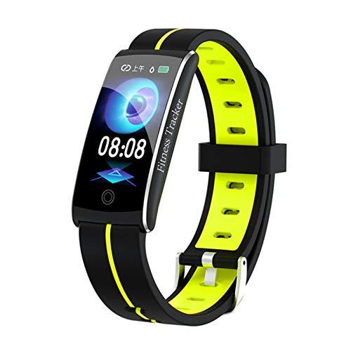 YDK Pulsera de la Aptitud F10C F10C Tasa del corazón y Pulsera de la presión Arterial Monitor de sueño Monitor de apuestas Fitness Rastreador A Prueba de Agua Reloj Deportivo para Android iOS,B