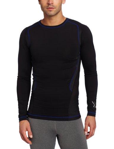 CW-X Ventilator Web Top T-shirt à manches longues petit multicolore - Noir/Bleu