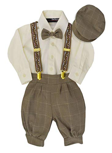 G284 Boys Vintage Knickers Outfit Suspenders (X-Large/18-24 Months, Natural)