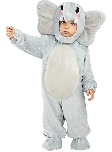 Funidelia   Disfraz de Elefante para bebé Talla 6-12 Meses ▶ Animales - Multicolor