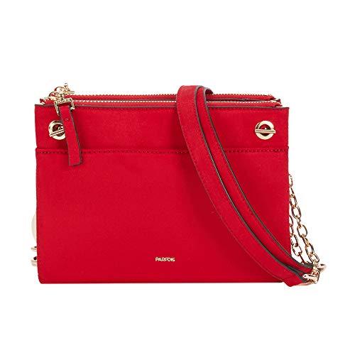 Parfois - Taschen Umhaengen Wildleder Synthetisch Rot - Damen - Größe S - Rot