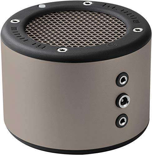 MINIRIG Bluetooth-Lautsprecher, tragbar, wiederaufladbar, 100 Stunden Akku, lauter HiFi-Sound, Silber/Grau