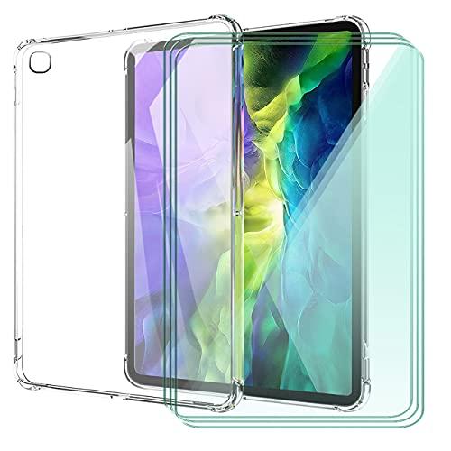 WANCJX Transparente Tablet Funda Compatible para Samsung Galaxy Tab A7 Lite (8.70 Pulgada) Carcasa + [3 Pieza] Cristal Templado Film,Antigolpes Caso Cover,HD Cristal Templado Membrana-TM