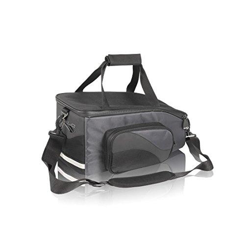 XLC Unisex– Erwachsene Gepäckträgertasche BA-S43, Schwarz Anthrazit, 160x180x350