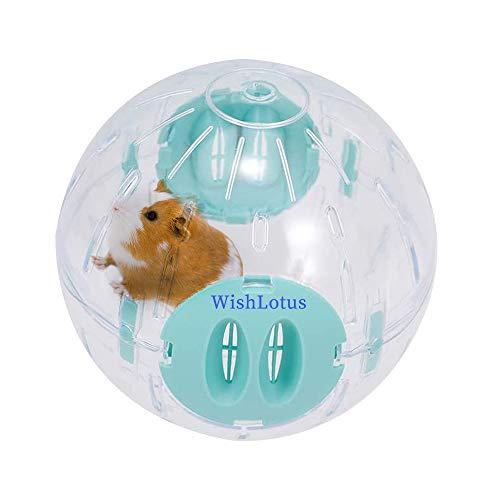 WishLotus Hamsterball, 14cm Transparent Hamsterrad Laufkugel für Hamster & Mäuse Plastik Spielzeug Langeweile beseitigen und die Aktivität steigern (Blau)