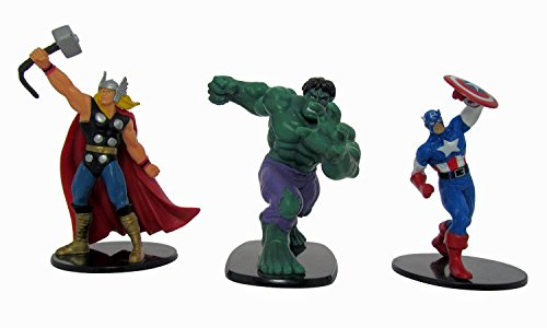 Marvel Avengers – Thor, Hulk et Captain America – Lot de 3 Deluxe 10,2 cm Figure Lot