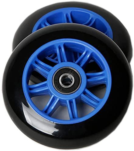 Wxnnx Ruedas de Scooter de 125 mm para Ruedas de Repuesto con rodamientos (Paquete de 2),A