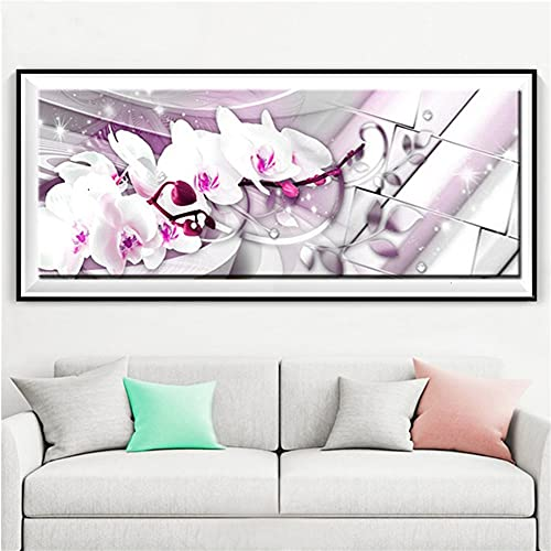 Diamond Painting Kits para Adultos/niños Orquídea,5D DIY pintura Diamante imitación Crystal dot Bordado Punto de Cruz Grande Mosaico Art Crafts Sala Cuarto Wall Decor Regalo
