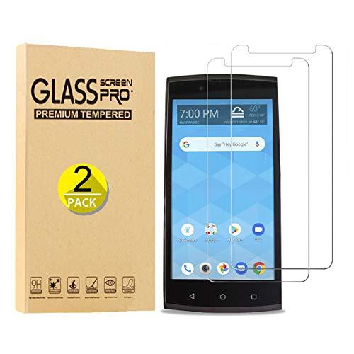 [2 Pack] Tznzxm Unimax UMX U693CL Tempered Glass Screen Protector, Case Friendly 9H Hardness HD Clear [Anti-Scratch] [Bubble Free] Tempered Glass Film for Unimax UMX U693CL Assurancewireless 5'