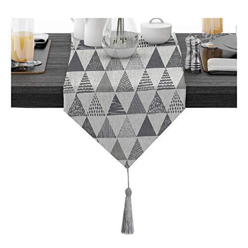 gaowei Wiederverwendbare Party Tischläufer, Dressing Tischschal Nordic Style Party Abendessen Hochzeit Home Tischdekoration (Farbe : Grau, Größe : 30 * 280cm)