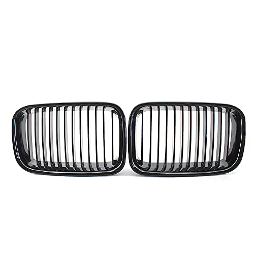 YKPDM Riñones Grille, para BMW E36 325i 320i 318is 1992-96 Grille High Gloss Black Cool Bussiness Style Car Front Short Parrill
