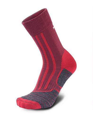 Meindl 9632-17 MT2 Men Socken aubergine Größe 42 EU Rot (rot/pink/lila/orange)