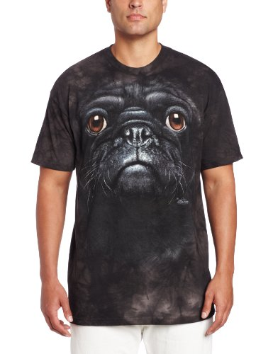 The Mountain Men's Pug Face T-Shirt, Black, Small