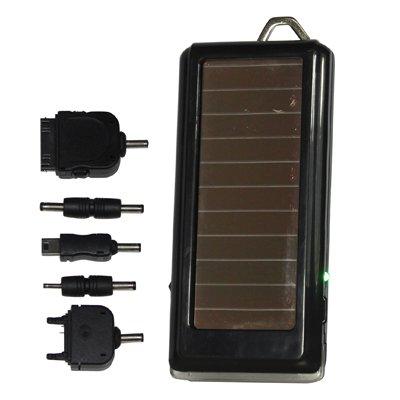 Luoshan Cargador de energía Solar con Linterna for iPhone/teléfono móvil / MP3 / MP4 / cámara Digital (batería de Litio incorporada: 1500 mAh)