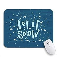 ECOMAOMI 可愛いマウスパッド グリーンクリスマス新年あけましておめでとうございますクリスマスそれは雪滑り止めゴムバッキングコンピューターマウスパッドのノートブックマウスマット